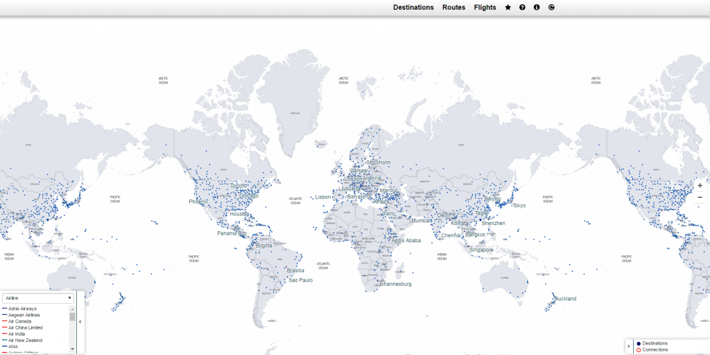 Star Alliance Route Map Tools I Use   Star Alliance Routing Map   PointsNerd