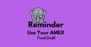 Reminder: Use Your American Express Travel Credit