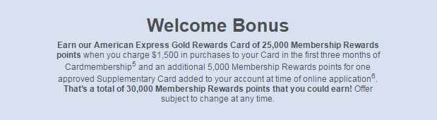 AMEX Gold New Offer