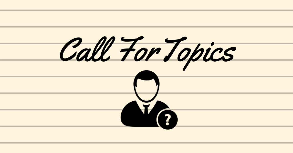 Call for Topics