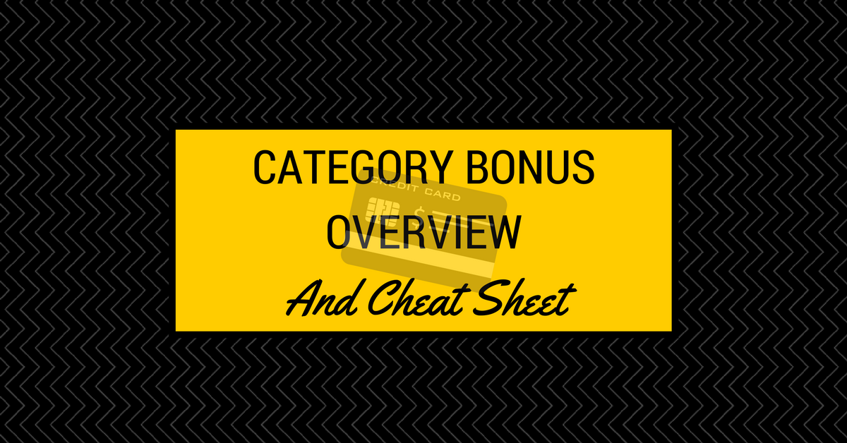 Category Bonus Overview and Cheat Sheet