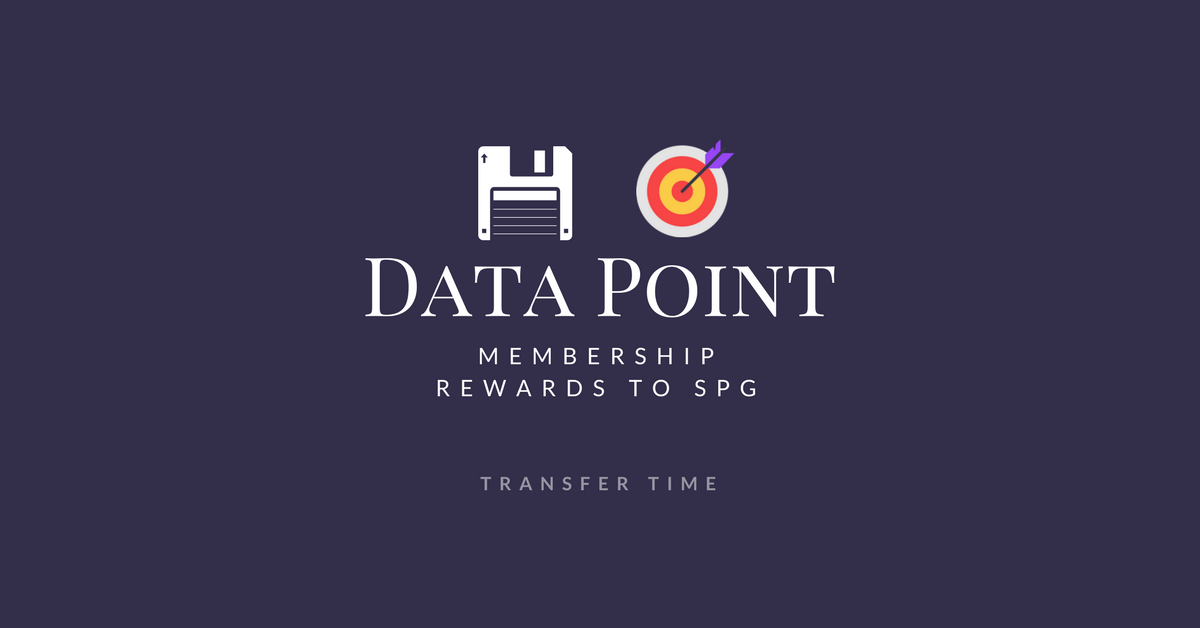 Data Point - AMEX Membership Rewards to SPG - Transfer Time