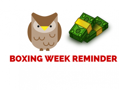 Boxing Day and Boxing Week Reminder