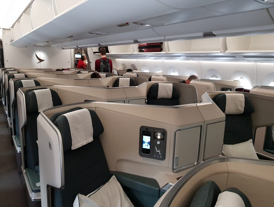 Cathay Pacific Business Class Review - HKG-AKL