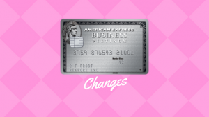 Changes to the American Express Business Platinum