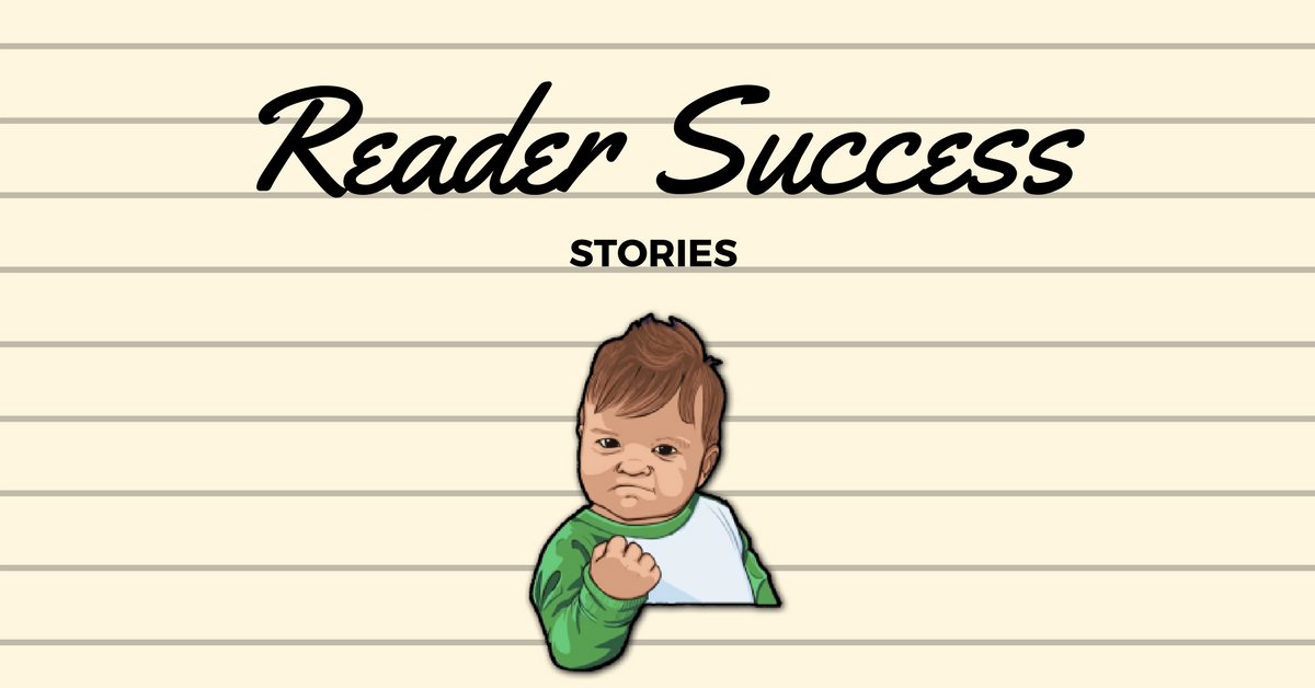 Reader Success Story - Mr. Darcy
