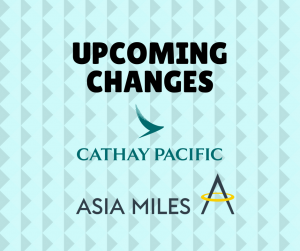 Changes coming to Cathay Pacific Asia Miles
