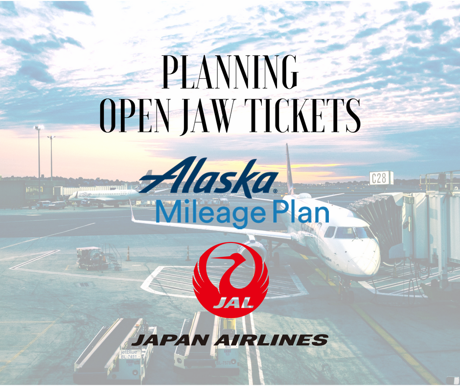 Open jaw tickets on Japan Airlines with Alaska Mileage Plan